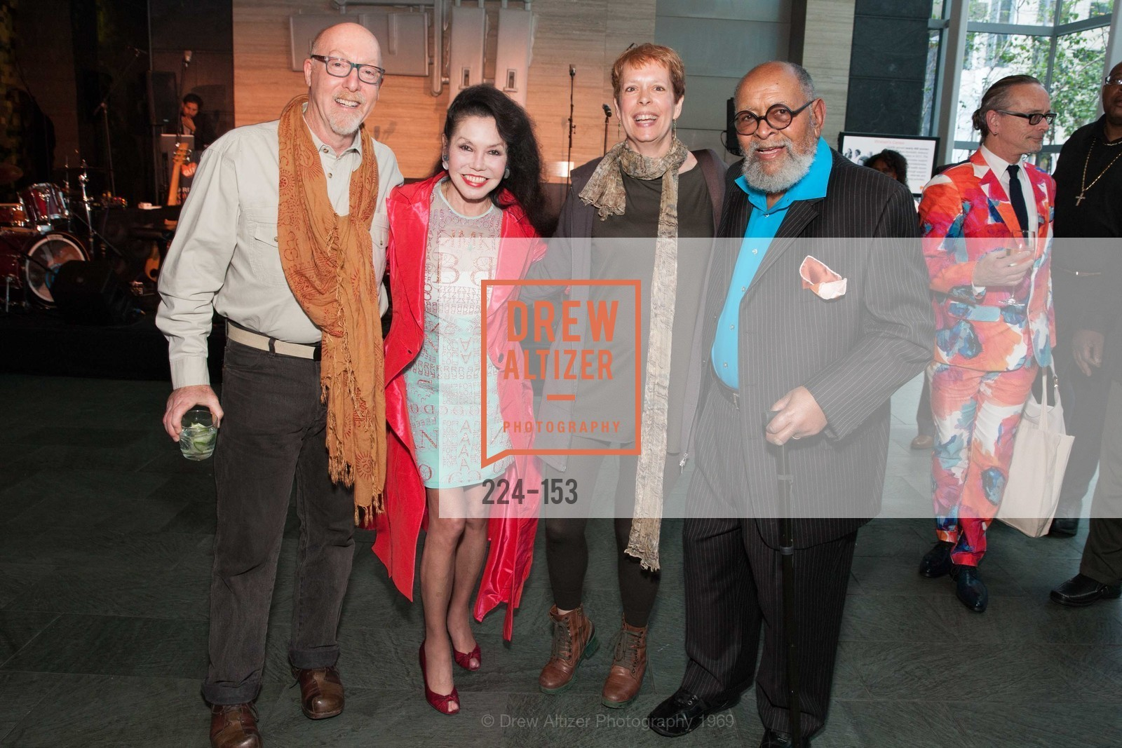 Daniel Oppenheim, Janice Mirikitani, Sandy LeBelle, Reverend Cecil Williams, GLIDE's Power of One Lunch Countdown Party, RN74. 301 Mission St, June 4th, 2015,Drew Altizer, Drew Altizer Photography, full-service agency, private events, San Francisco photographer, photographer california