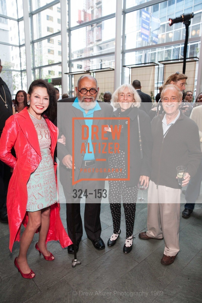 Janice Mirikitani, Reverend Cecil Williams, Marianne Halley, Barry Sacks, GLIDE's Power of One Lunch Countdown Party, RN74. 301 Mission St, June 4th, 2015,Drew Altizer, Drew Altizer Photography, full-service agency, private events, San Francisco photographer, photographer california