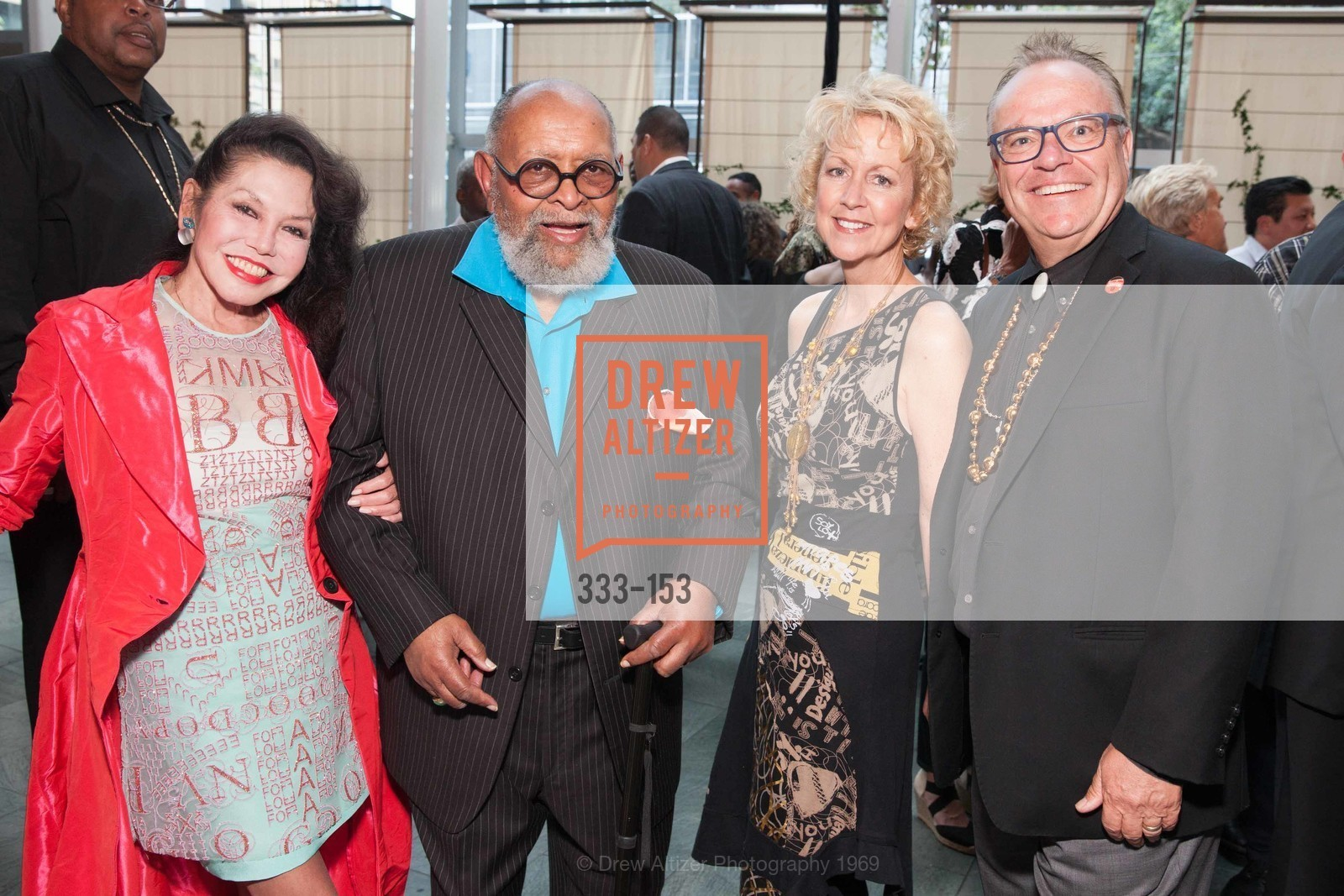 Janice Mirikitani, Reverend Cecil Williams, Kim Larson, Bob Larson, GLIDE's Power of One Lunch Countdown Party, RN74. 301 Mission St, June 4th, 2015,Drew Altizer, Drew Altizer Photography, full-service agency, private events, San Francisco photographer, photographer california