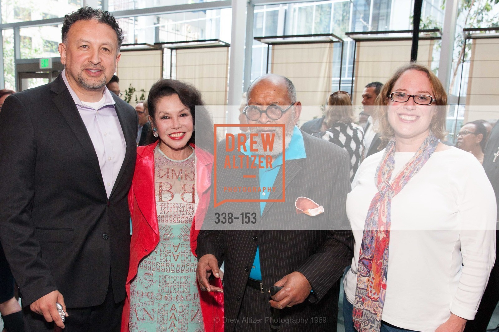 Miguel Bustos, Janice Mirikitani, Reverend Cecil Williams, Lindsay Laspen, GLIDE's Power of One Lunch Countdown Party, RN74. 301 Mission St, June 4th, 2015,Drew Altizer, Drew Altizer Photography, full-service agency, private events, San Francisco photographer, photographer california