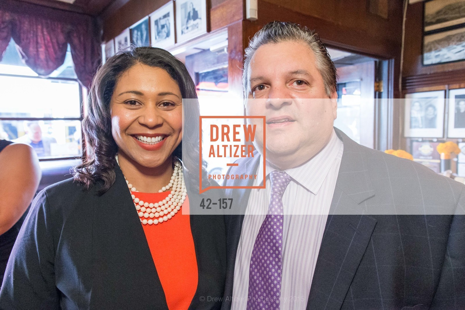 London Breed, John Konstin, 3-Ring Lunch Celebration honoring Renel Brooks-Moon, John's Grill. 63 Ellis Street, June 7th, 2015,Drew Altizer, Drew Altizer Photography, full-service agency, private events, San Francisco photographer, photographer california