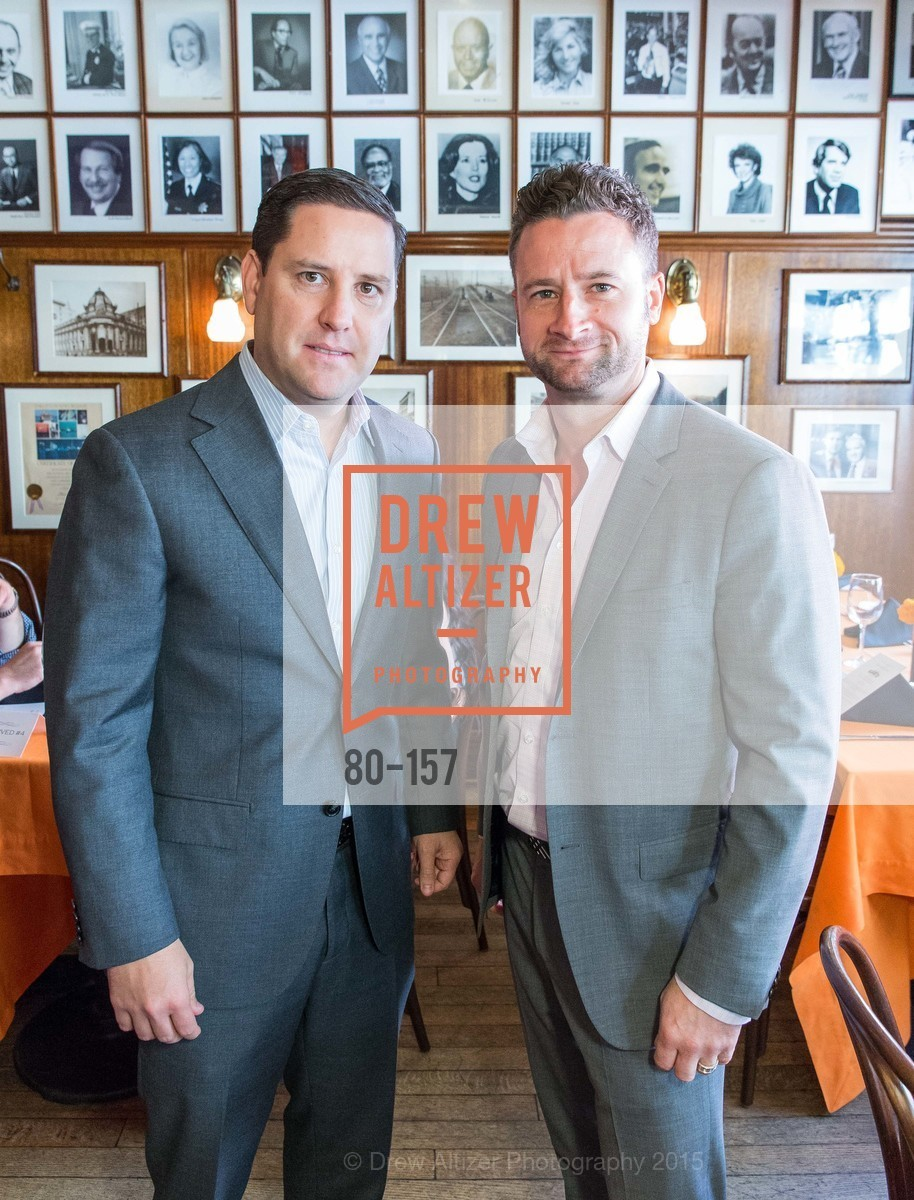 Patrick Hagemeister, Tyler Benz, 3-Ring Lunch Celebration honoring Renel Brooks-Moon, John's Grill. 63 Ellis Street, June 7th, 2015,Drew Altizer, Drew Altizer Photography, full-service agency, private events, San Francisco photographer, photographer california