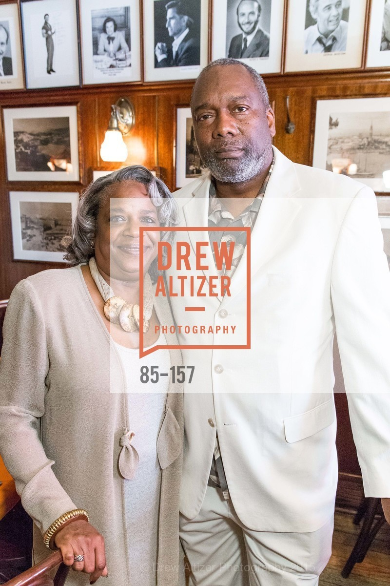 Cheryl Williams, Jerome Williams, 3-Ring Lunch Celebration honoring Renel Brooks-Moon, John's Grill. 63 Ellis Street, June 7th, 2015,Drew Altizer, Drew Altizer Photography, full-service agency, private events, San Francisco photographer, photographer california