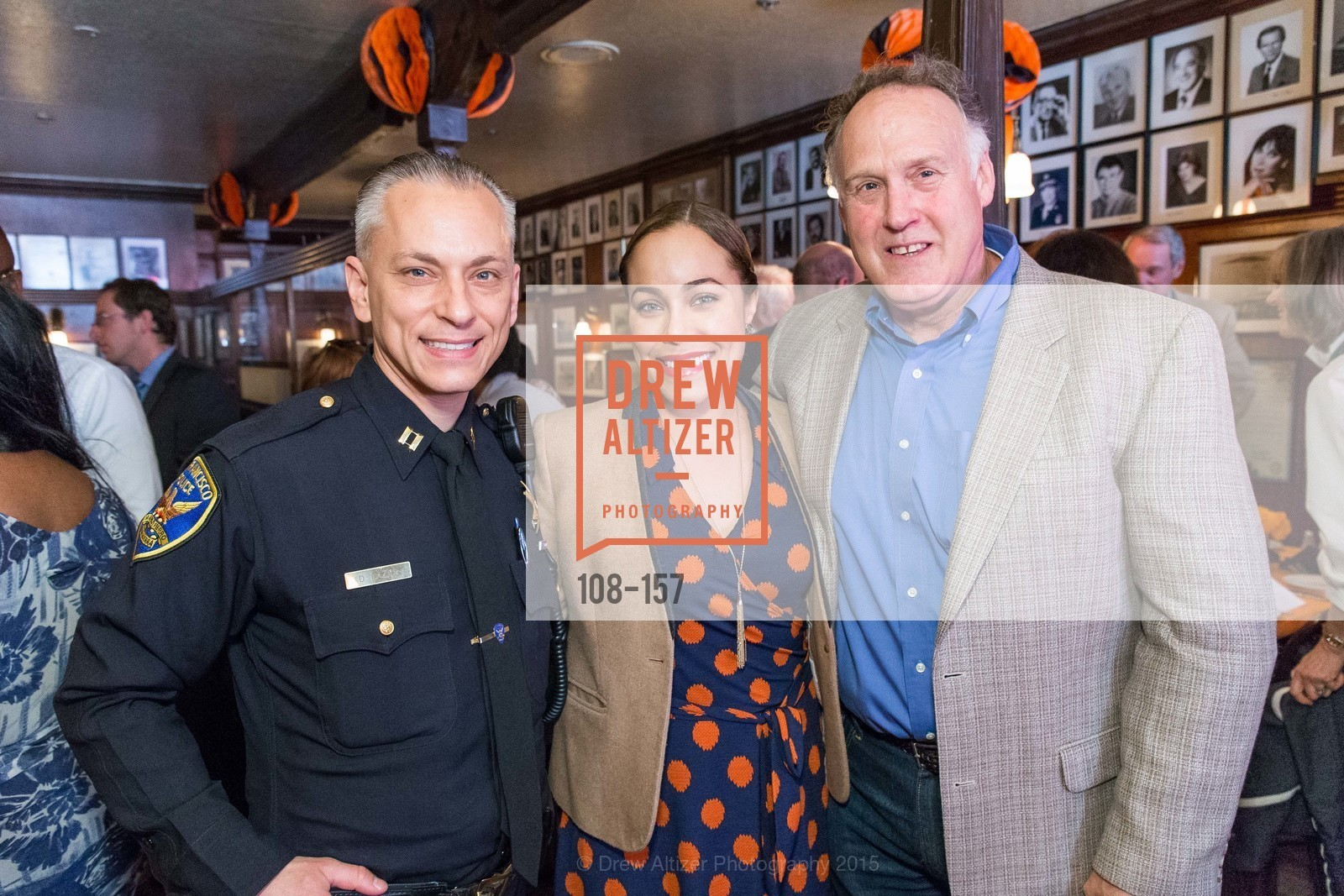 David Lazar, Marisa Rodriguez, Joe Garrity, 3-Ring Lunch Celebration honoring Renel Brooks-Moon, John's Grill. 63 Ellis Street, June 7th, 2015,Drew Altizer, Drew Altizer Photography, full-service agency, private events, San Francisco photographer, photographer california