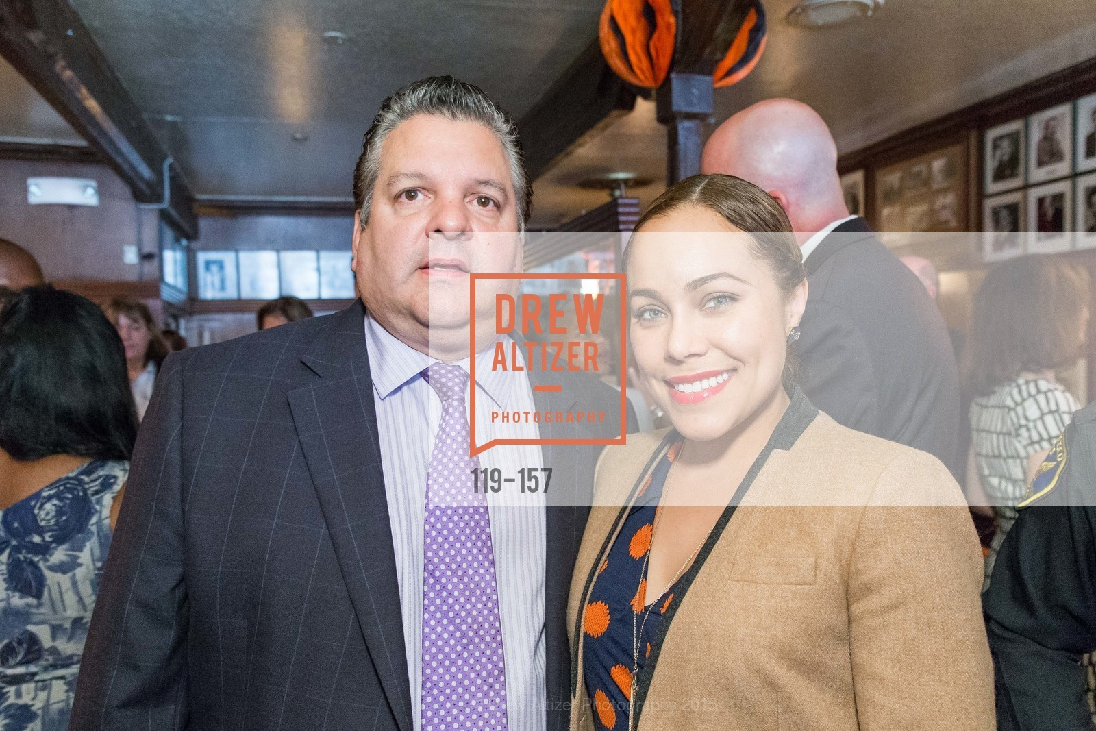 John Konstin, Marisa Rodriguez, 3-Ring Lunch Celebration honoring Renel Brooks-Moon, John's Grill. 63 Ellis Street, June 7th, 2015,Drew Altizer, Drew Altizer Photography, full-service agency, private events, San Francisco photographer, photographer california