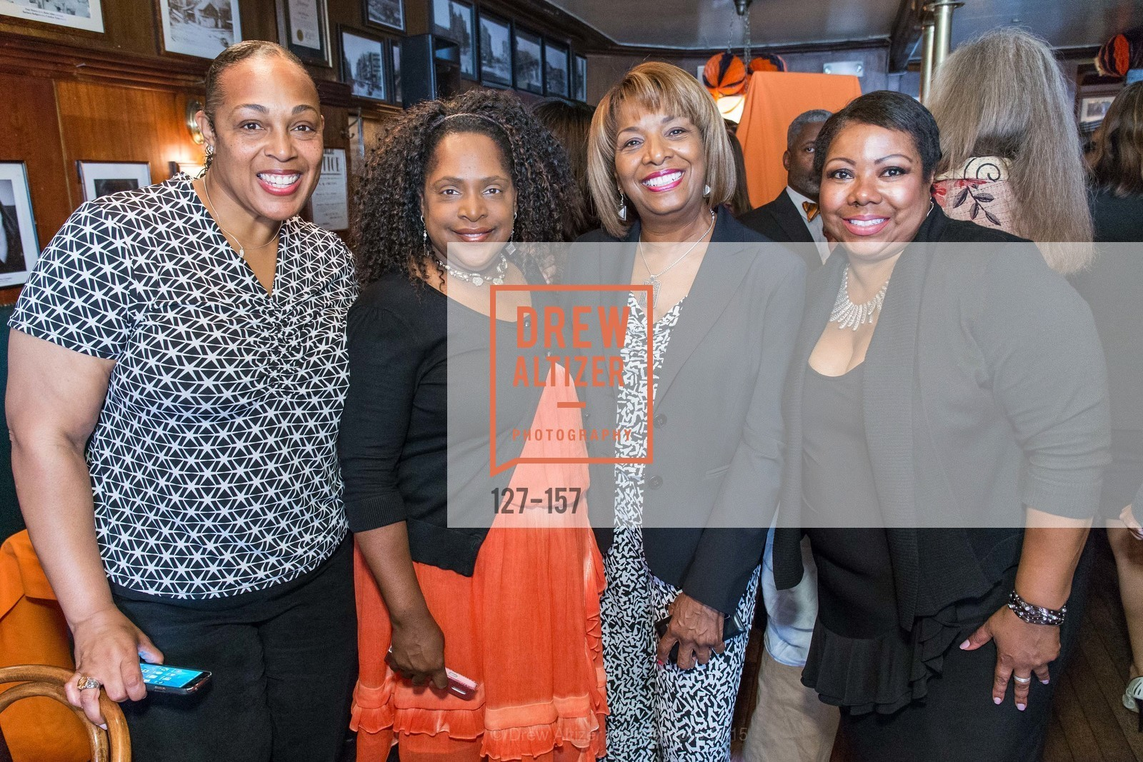 Deanna Roberts, Cheri Dove, Rosie Allen, Sidney Hunter, 3-Ring Lunch Celebration honoring Renel Brooks-Moon, John's Grill. 63 Ellis Street, June 7th, 2015,Drew Altizer, Drew Altizer Photography, full-service agency, private events, San Francisco photographer, photographer california