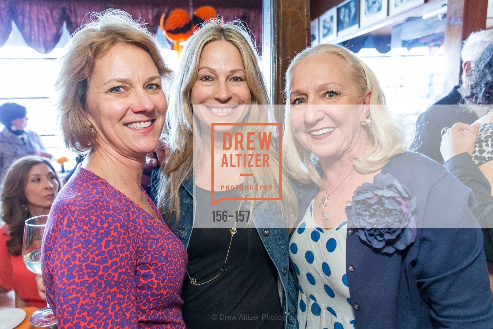 Lee Gregory, Carolyne Zinko, Trish Herman, 3-Ring Lunch Celebration honoring Renel Brooks-Moon, John's Grill. 63 Ellis Street, June 7th, 2015,Drew Altizer, Drew Altizer Photography, full-service agency, private events, San Francisco photographer, photographer california