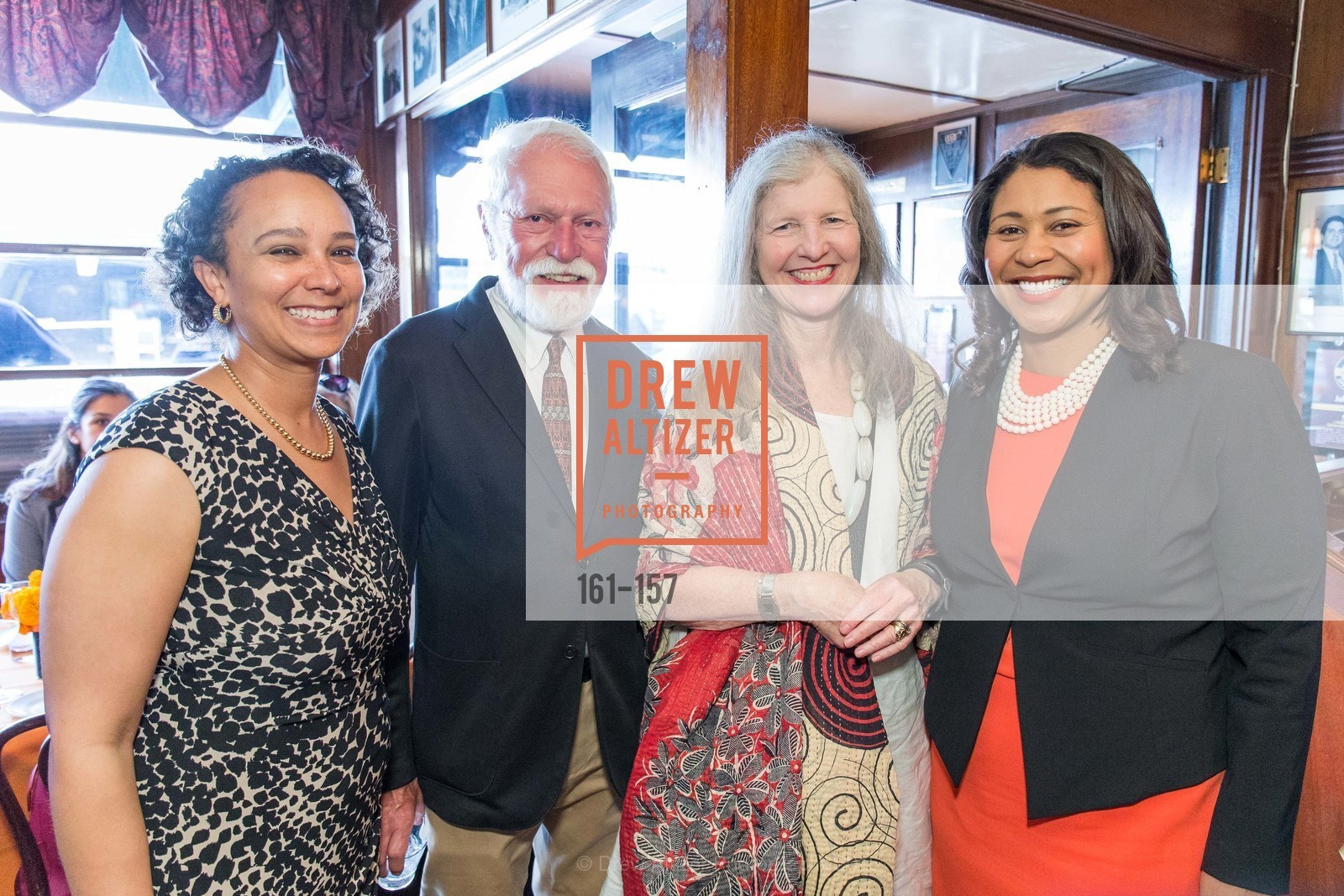 Naomi Kelly, Lewis Sykes, Leah Garchrik, London Breed, 3-Ring Lunch Celebration honoring Renel Brooks-Moon, John's Grill. 63 Ellis Street, June 7th, 2015,Drew Altizer, Drew Altizer Photography, full-service event agency, private events, San Francisco photographer, photographer California
