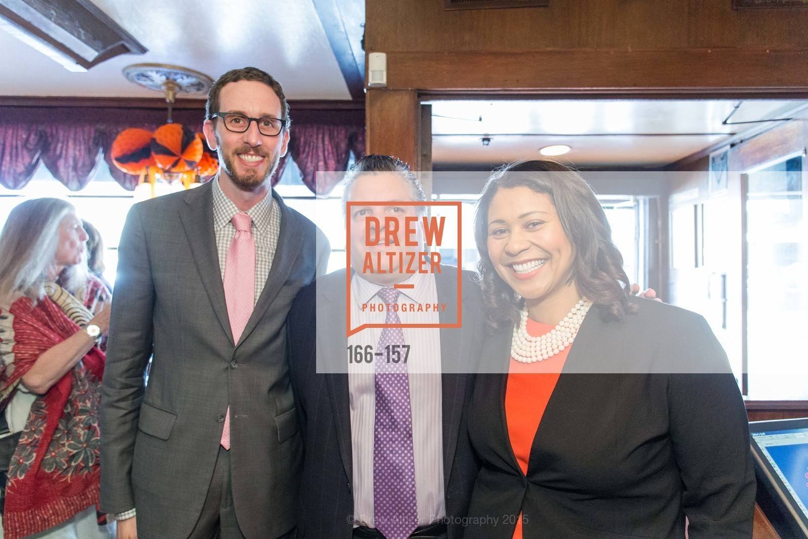 Scott Wiener, John Konstin, London Breed, 3-Ring Lunch Celebration honoring Renel Brooks-Moon, John's Grill. 63 Ellis Street, June 7th, 2015,Drew Altizer, Drew Altizer Photography, full-service agency, private events, San Francisco photographer, photographer california