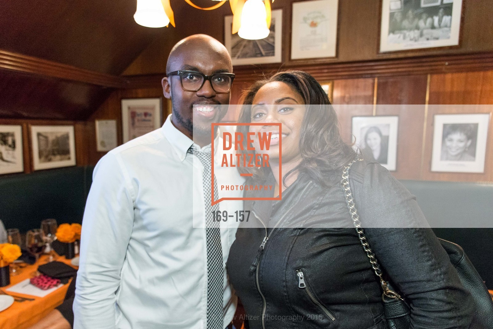 Stevon Cook, Maisha Hicks, 3-Ring Lunch Celebration honoring Renel Brooks-Moon, John's Grill. 63 Ellis Street, June 7th, 2015,Drew Altizer, Drew Altizer Photography, full-service agency, private events, San Francisco photographer, photographer california