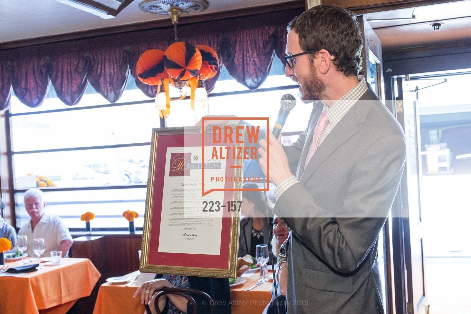 Scott Wiener, 3-Ring Lunch Celebration honoring Renel Brooks-Moon, John's Grill. 63 Ellis Street, June 7th, 2015,Drew Altizer, Drew Altizer Photography, full-service agency, private events, San Francisco photographer, photographer california