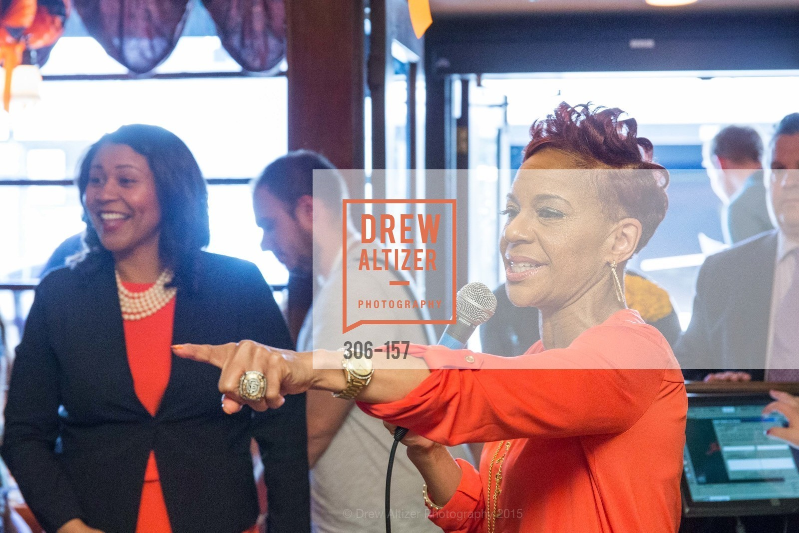 London Breed, Renel Brooks-Moon, 3-Ring Lunch Celebration honoring Renel Brooks-Moon, John's Grill. 63 Ellis Street, June 7th, 2015,Drew Altizer, Drew Altizer Photography, full-service agency, private events, San Francisco photographer, photographer california