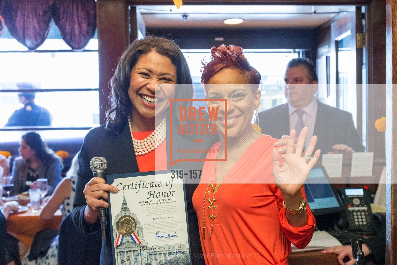 London Breed, Renel, 3-Ring Lunch Celebration honoring Renel Brooks-Moon, John's Grill. 63 Ellis Street, June 7th, 2015,Drew Altizer, Drew Altizer Photography, full-service event agency, private events, San Francisco photographer, photographer California