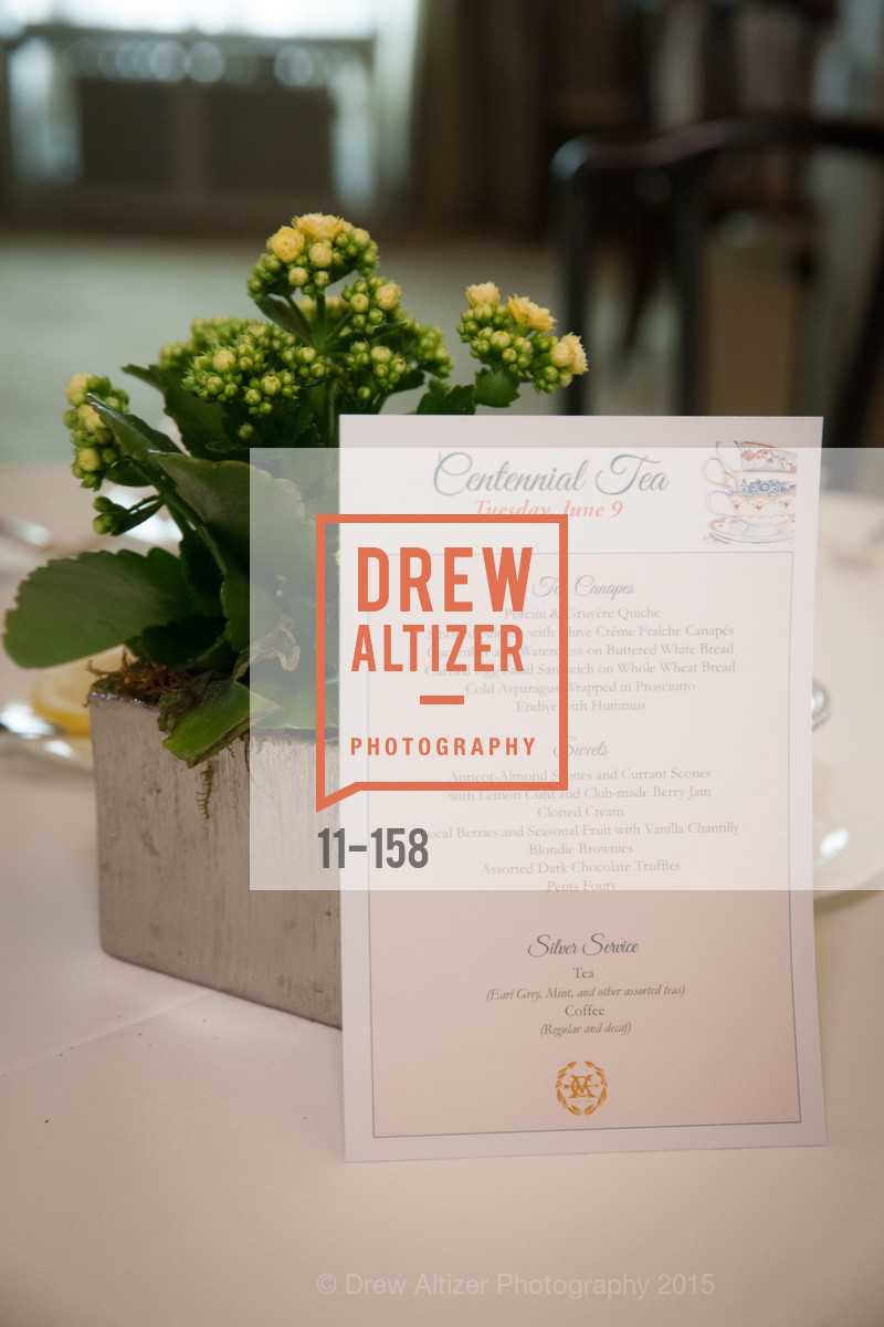 Atmosphere, Metropolitan Club Hosts Centennial Tea, Metropolitan Club. 640 Sutter Street, June 8th, 2015,Drew Altizer, Drew Altizer Photography, full-service agency, private events, San Francisco photographer, photographer california