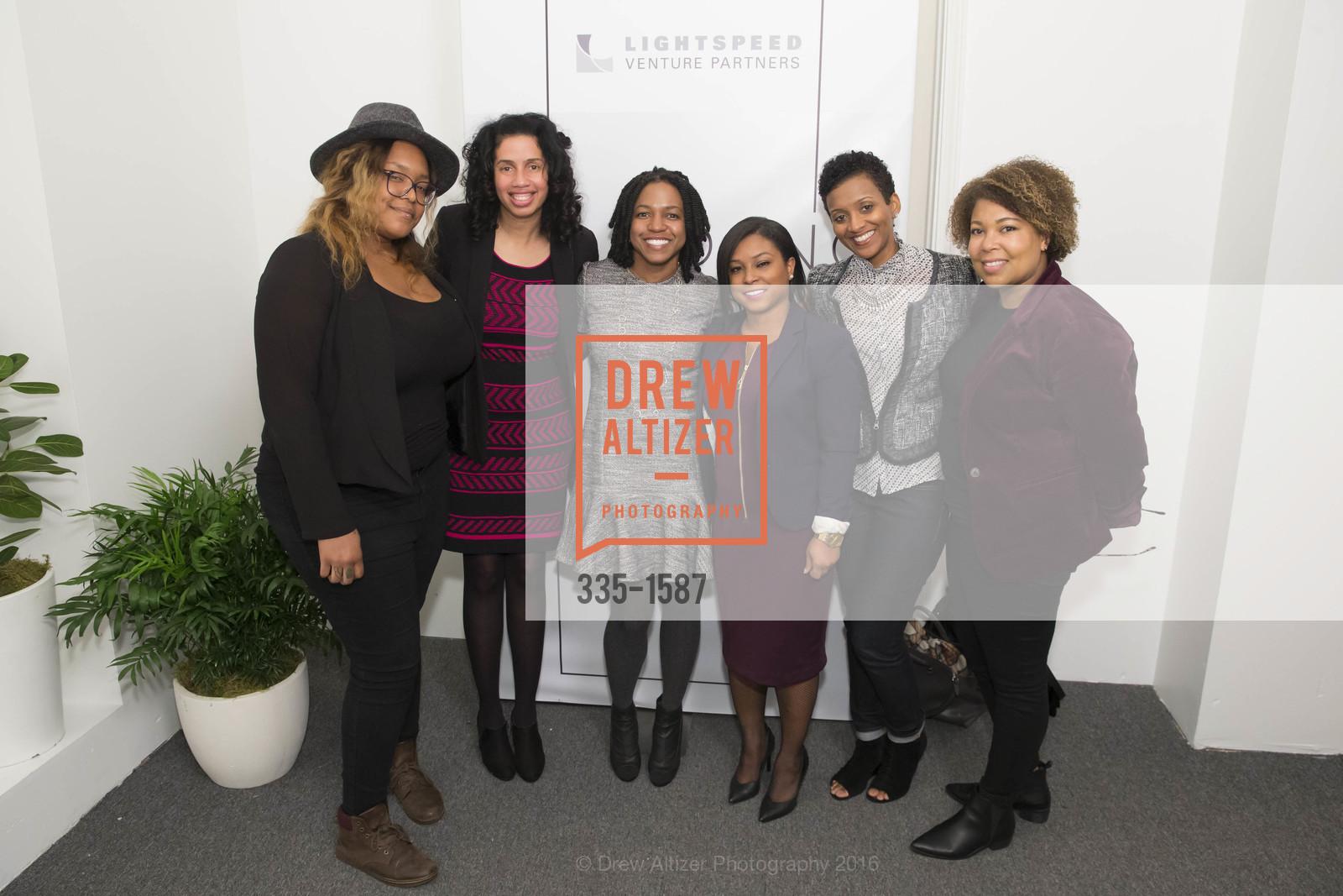 Laura Kirby, Aquaria Harley, Stacy Brown-Philpot, Minda Hart, Michelle Godfrey, Stephanie Williams, Photo #335-1587
