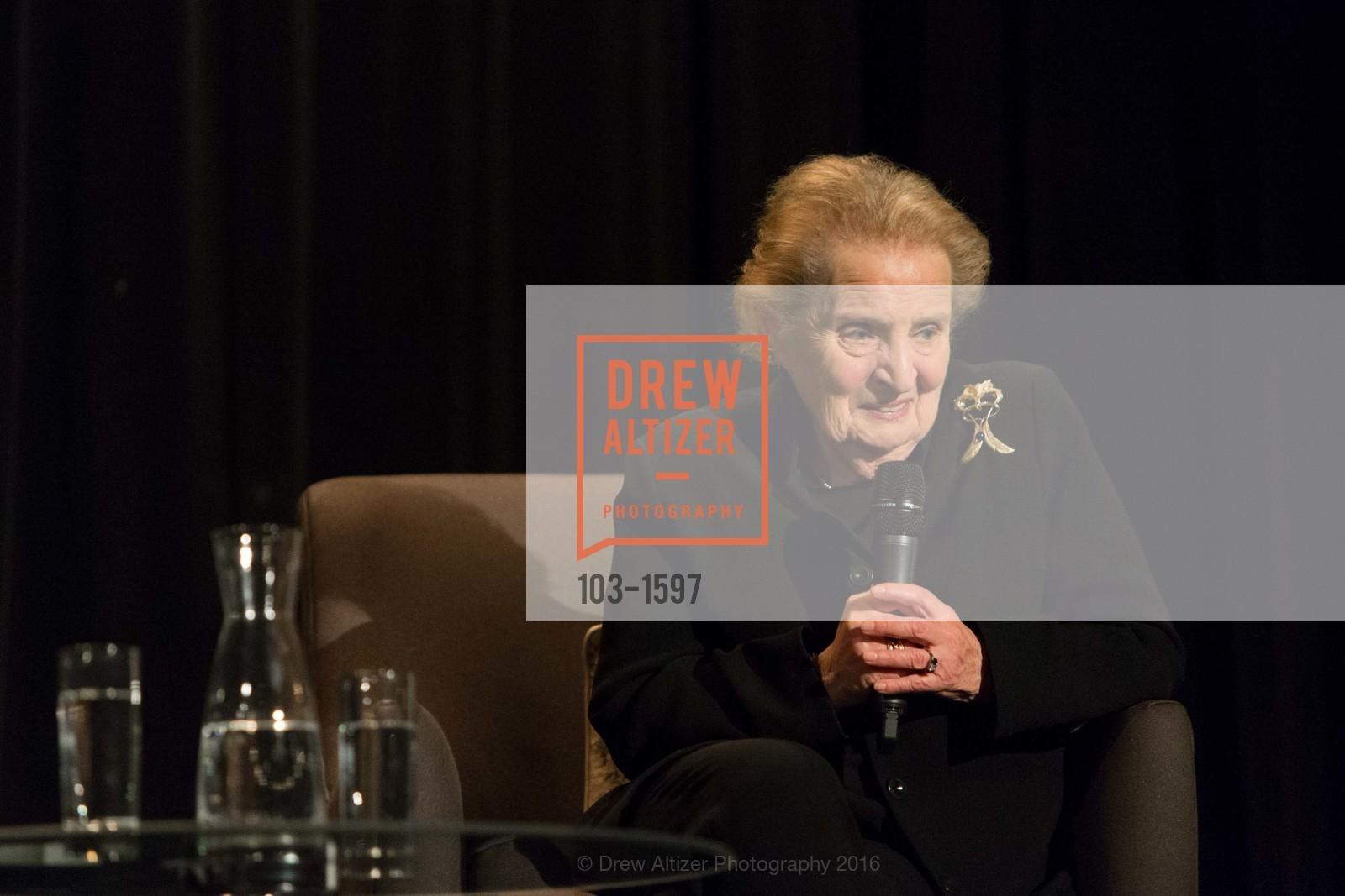 Tom DeCaigny, Madeleine Albright, Photo #103-1597