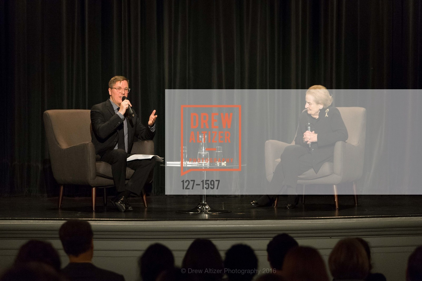 Tom DeCaigny, Madeleine Albright, A Conversation with Madeleine Albright at the Legion of Honor, Legion of Honor. 2525 Van Ness St, November 16th, 2016
