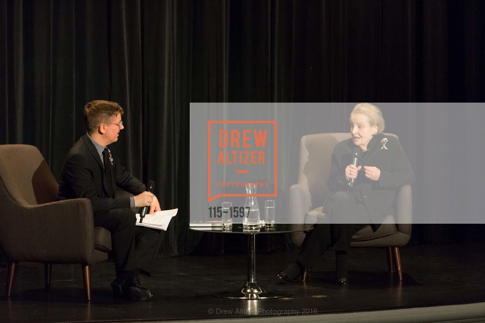 Tom DeCaigny, Madeleine Albright, A Conversation with Madeleine Albright at the Legion of Honor, Legion of Honor. 2525 Van Ness St, November 16th, 2016