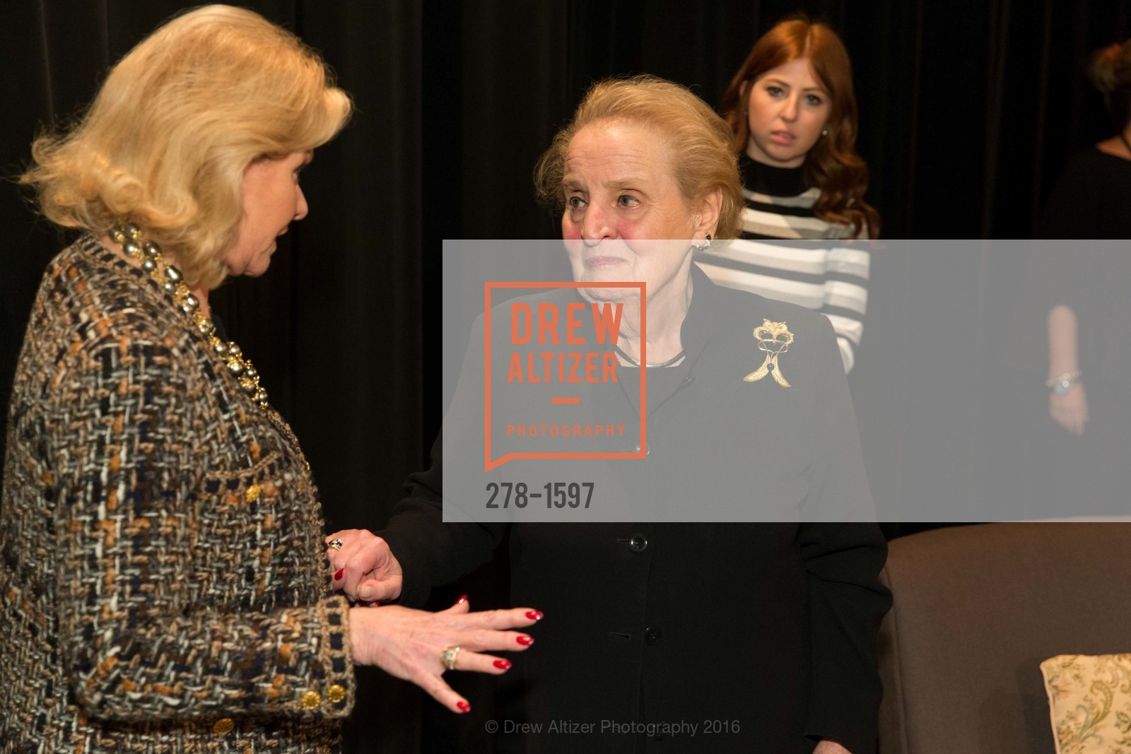 Dede Wilsey, Madeleine Albright, A Conversation with Madeleine Albright at the Legion of Honor, Legion of Honor. 2525 Van Ness St, November 16th, 2016