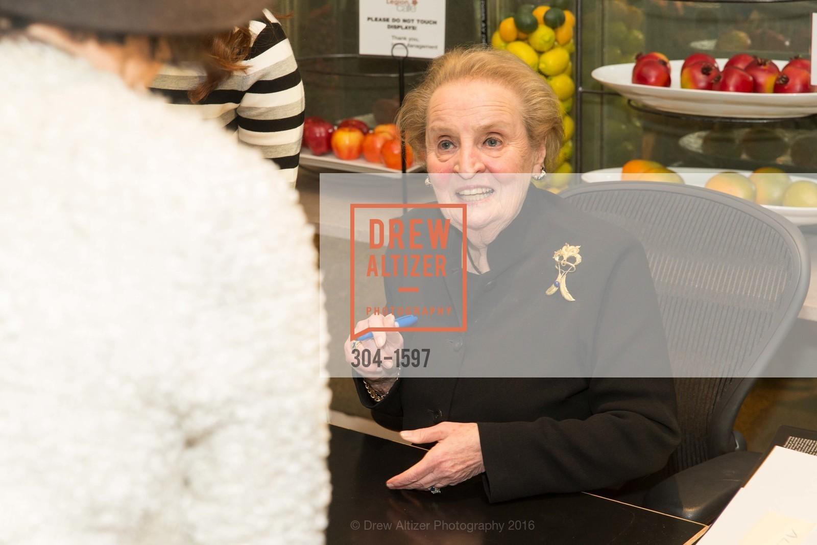 Madeleine Albright, A Conversation with Madeleine Albright at the Legion of Honor, Legion of Honor. 2525 Van Ness St, November 16th, 2016