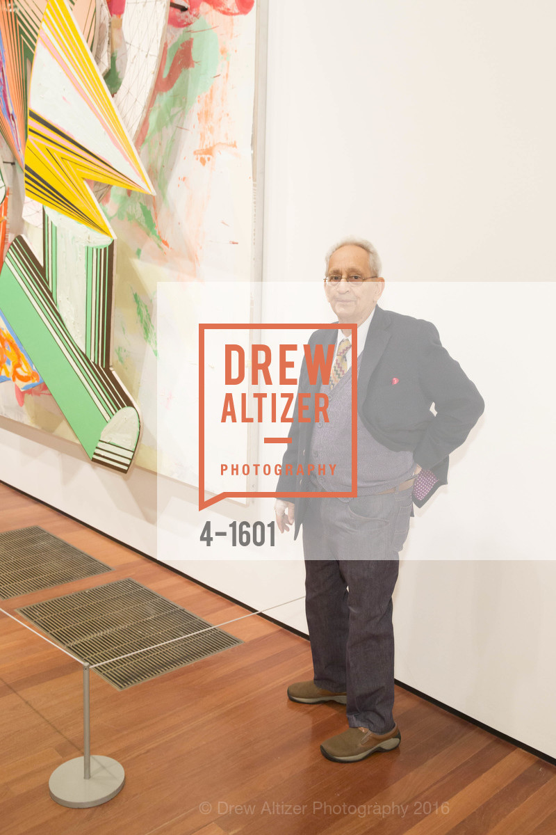 Frank Stella, Dinner with Frank Stella at the de Young, de Young Museum. 2525 Van Ness St, November 16th, 2016