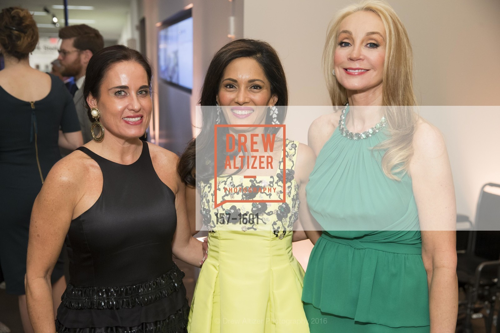 Natalia Urrutia, Komal Shah, Giselle Anna Parry, Dinner with Frank Stella at the de Young, de Young Museum. 2525 Van Ness St, November 16th, 2016