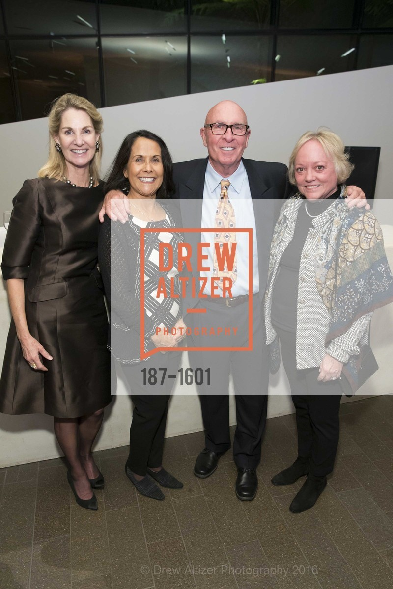 Kim Dardon, Pat Auping, Michael Auping, Marla Price, Dinner with Frank Stella at the de Young, de Young Museum. 2525 Van Ness St, November 16th, 2016