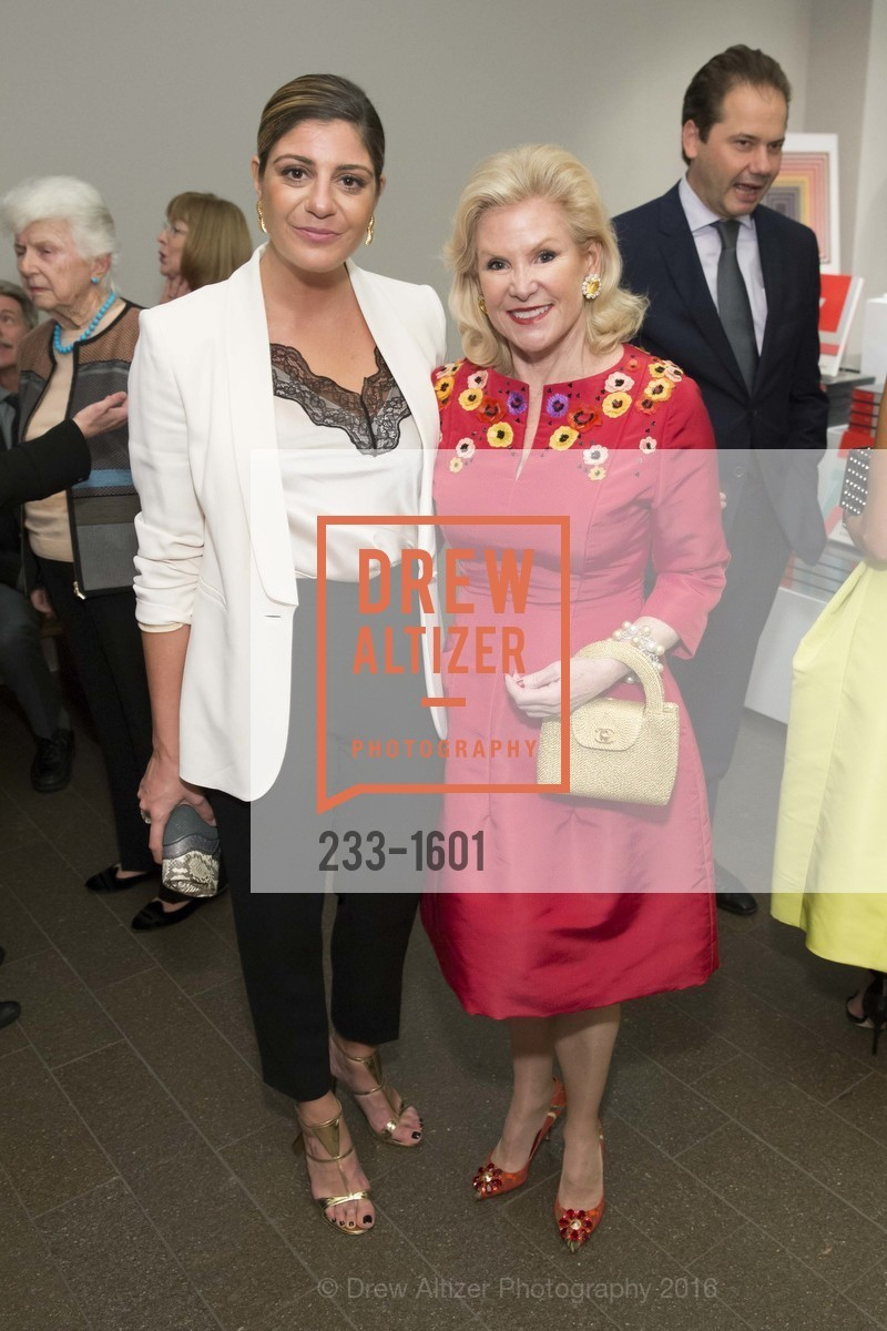 Maria Giulia Maramotti, Dede Wilsey, Dinner with Frank Stella at the de Young, de Young Museum. 2525 Van Ness St, November 16th, 2016