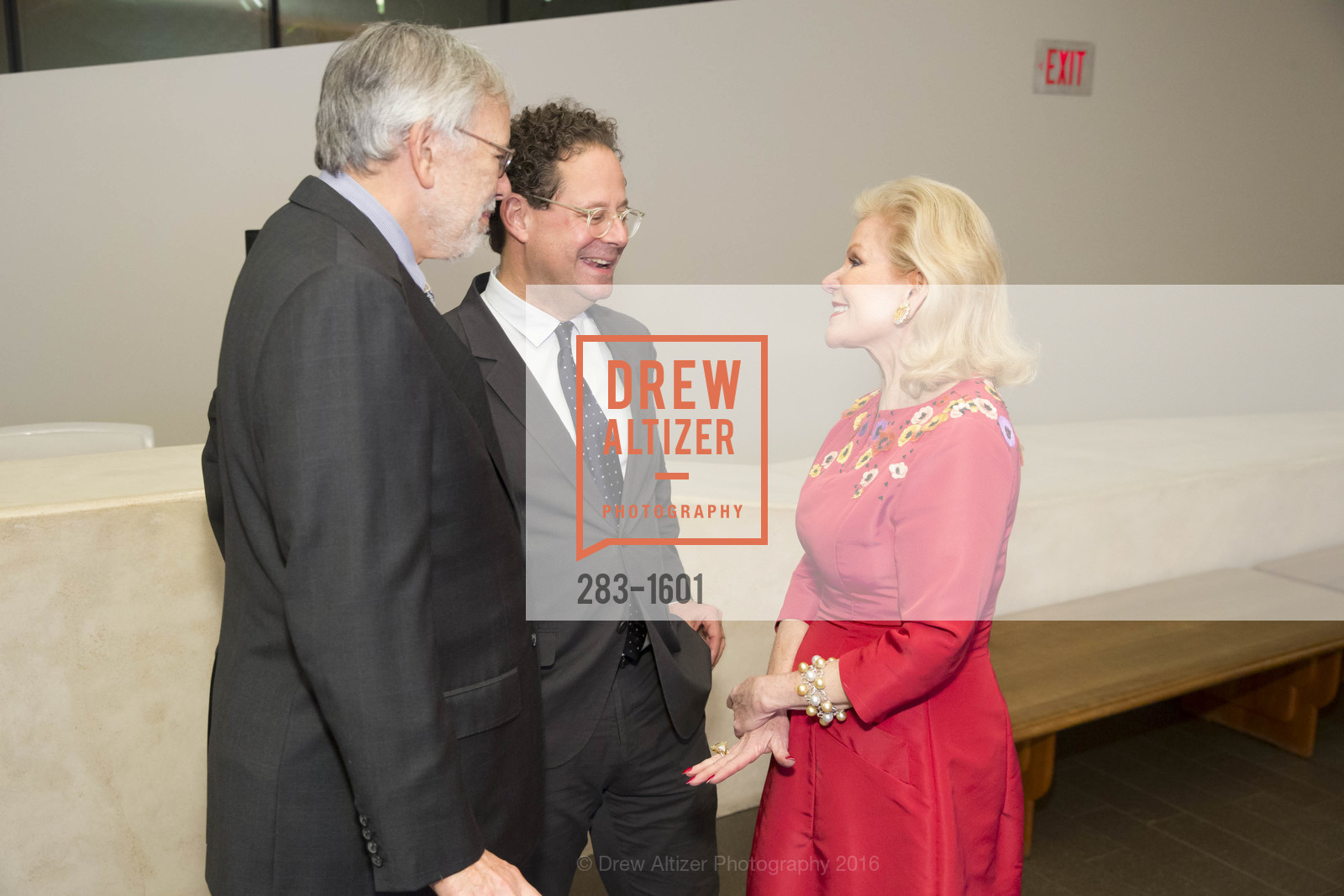 Richard Greenfield, Adam Weinberg, Dede Wilsey, Dinner with Frank Stella at the de Young, de Young Museum. 2525 Van Ness St, November 16th, 2016