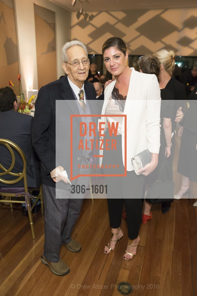 Frank Stella, Maria Giulia Maramotti, Dinner with Frank Stella at the de Young, de Young Museum. 2525 Van Ness St, November 16th, 2016