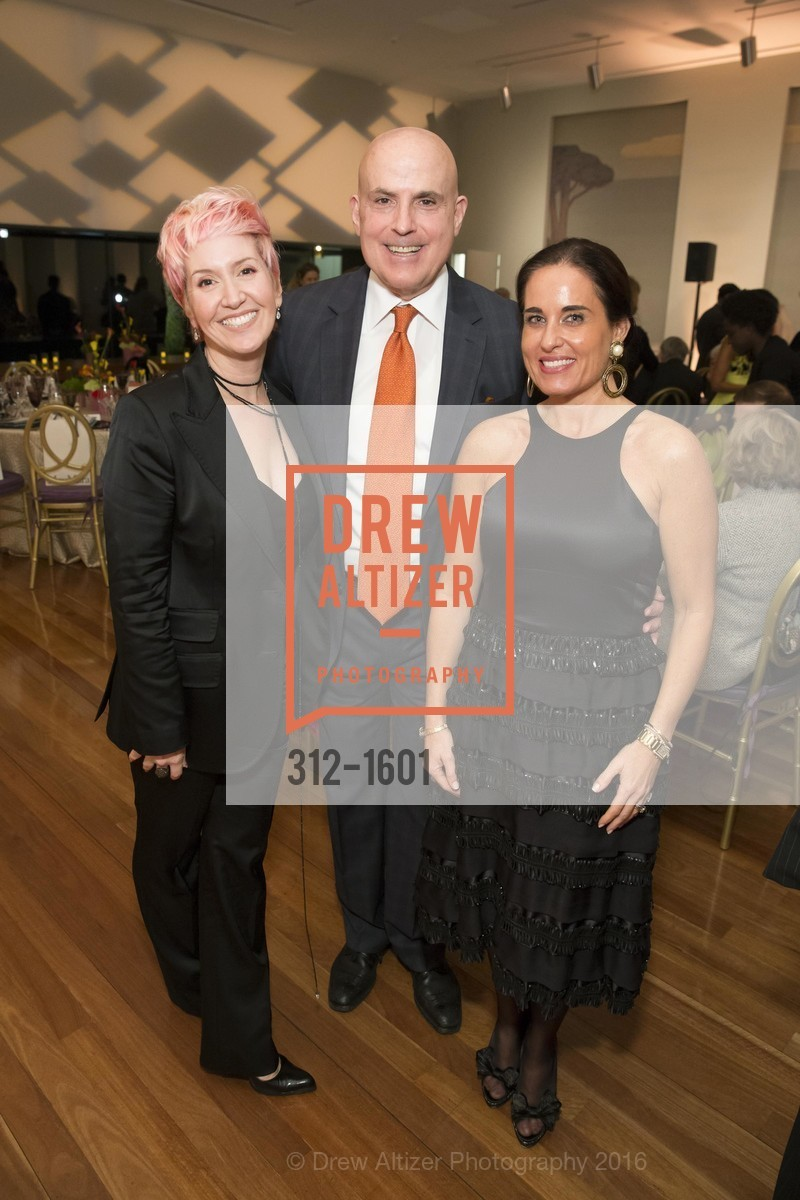 Lisa Sardegna, Larry Block, Natalia Urrutia, Dinner with Frank Stella at the de Young, de Young Museum. 2525 Van Ness St, November 16th, 2016