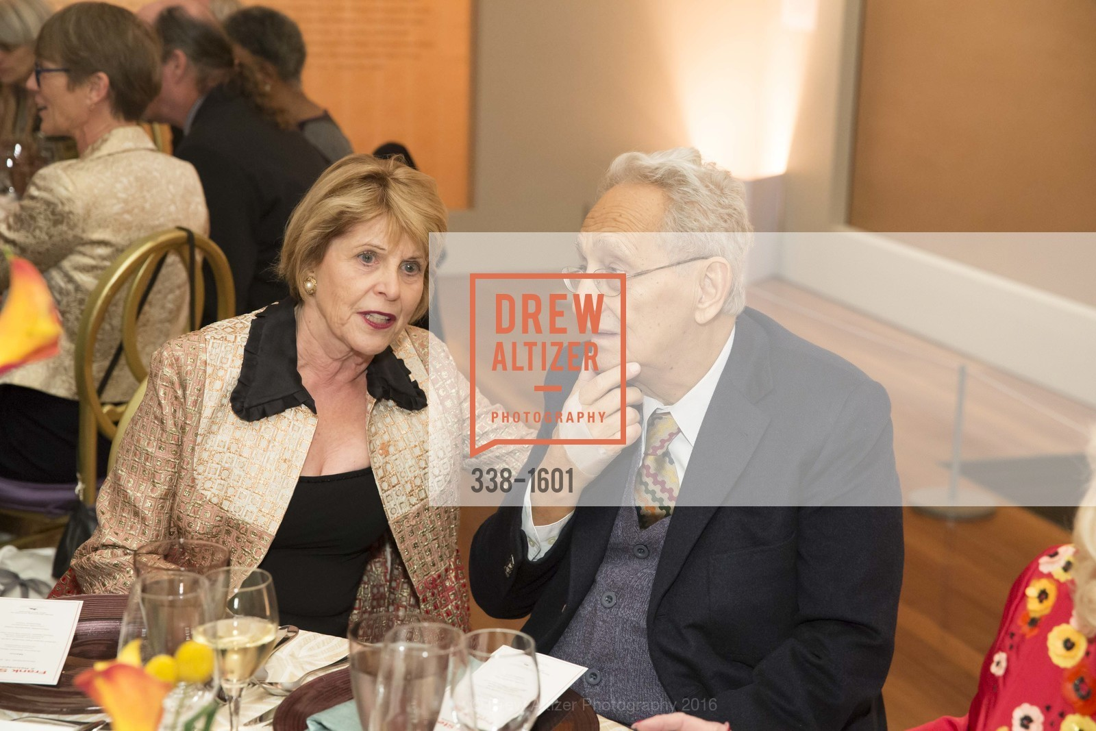 Dagmar Dolby, Frank Stein, Dinner with Frank Stella at the de Young, de Young Museum. 2525 Van Ness St, November 16th, 2016