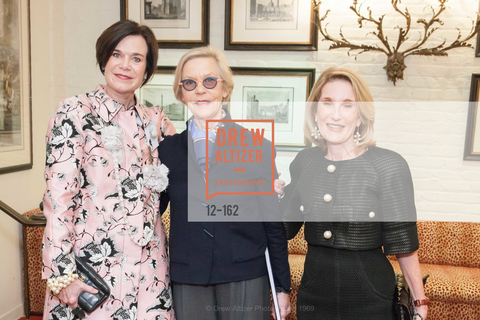 Lucy Buchanan, Barbro Osher, Lorna Meyer Calas, National Museum of Women in the Arts Luncheon Hosted by Lorna Meyer Calas, Villa Taverna. 27 Hotaling Place, June 14th, 2015,Drew Altizer, Drew Altizer Photography, full-service agency, private events, San Francisco photographer, photographer california