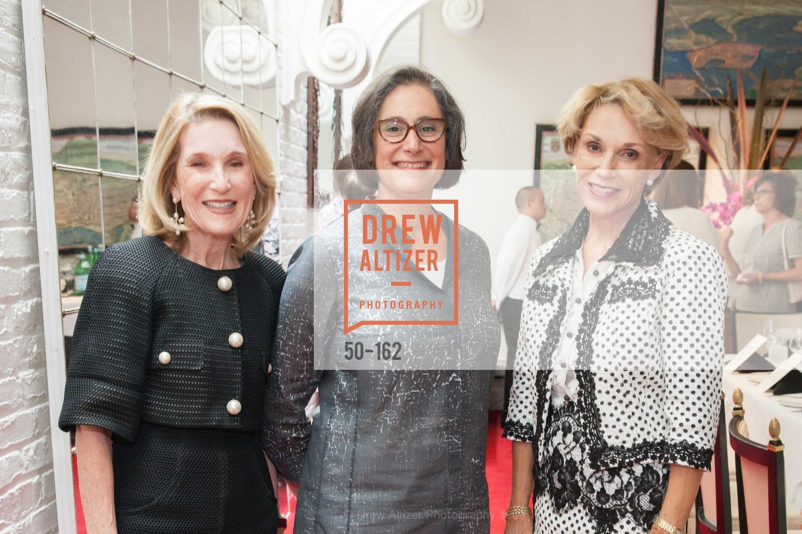 Lorna Meyer Calas, Susan Sterling, Carol Parker, National Museum of Women in the Arts Luncheon Hosted by Lorna Meyer Calas, Villa Taverna. 27 Hotaling Place, June 14th, 2015