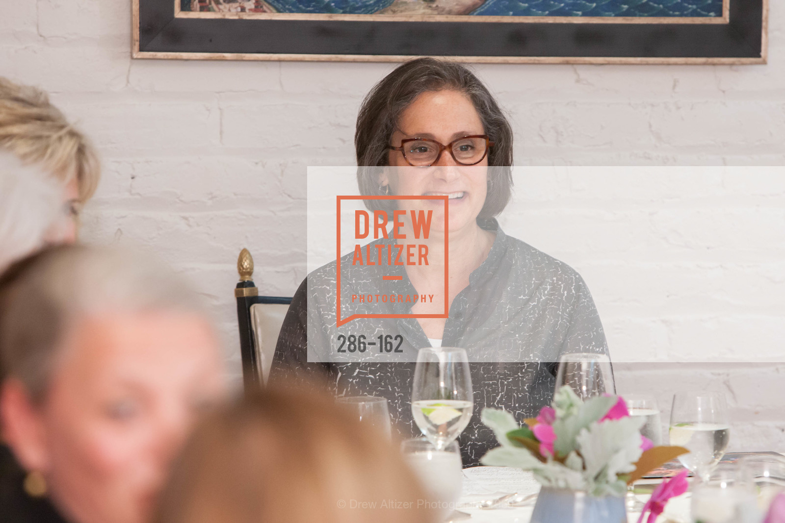 Susan Sterling, National Museum of Women in the Arts Luncheon Hosted by Lorna Meyer Calas, Villa Taverna. 27 Hotaling Place, June 14th, 2015,Drew Altizer, Drew Altizer Photography, full-service event agency, private events, San Francisco photographer, photographer California