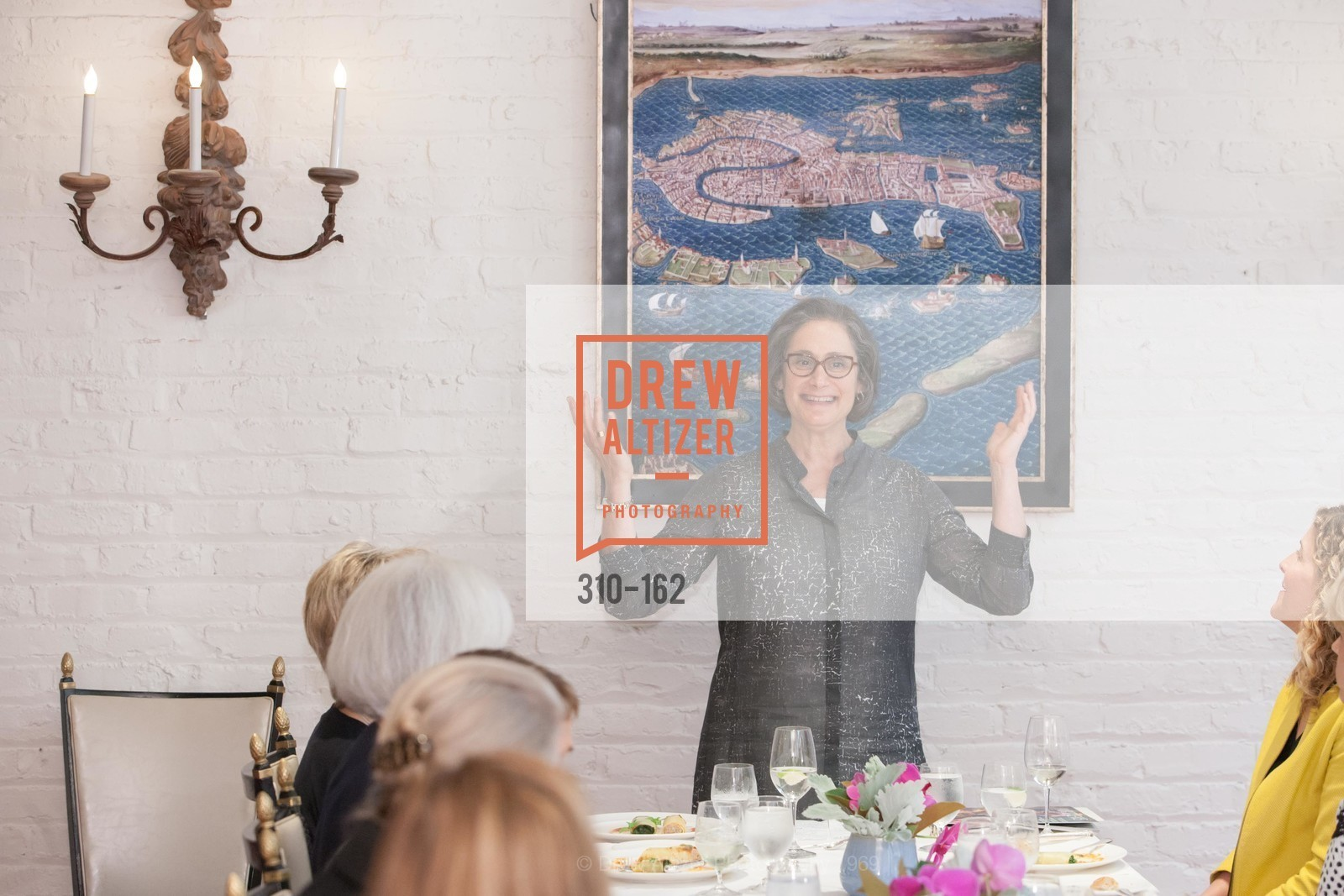 Susan Sterling, National Museum of Women in the Arts Luncheon Hosted by Lorna Meyer Calas, Villa Taverna. 27 Hotaling Place, June 14th, 2015,Drew Altizer, Drew Altizer Photography, full-service agency, private events, San Francisco photographer, photographer california