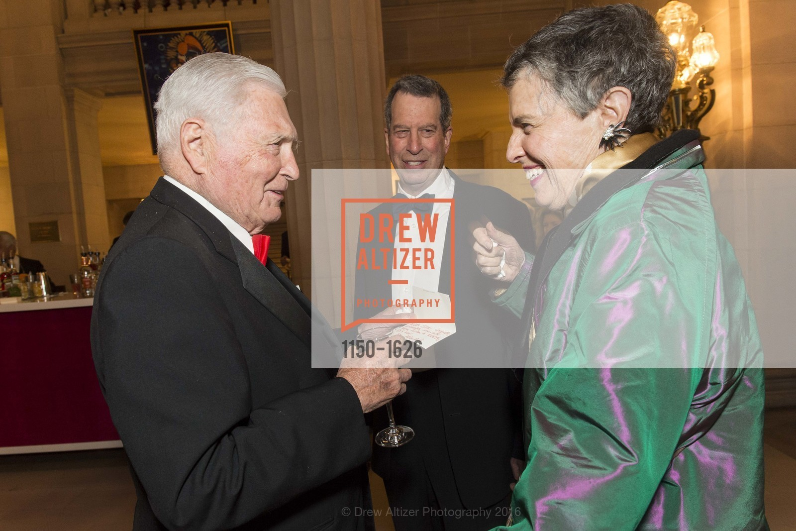 Pitch Johnson, Bill Russell-Shapiro, Alice Russell-Shapiro, SF Opera's An Evening on the Stage honoring Franklin P. (