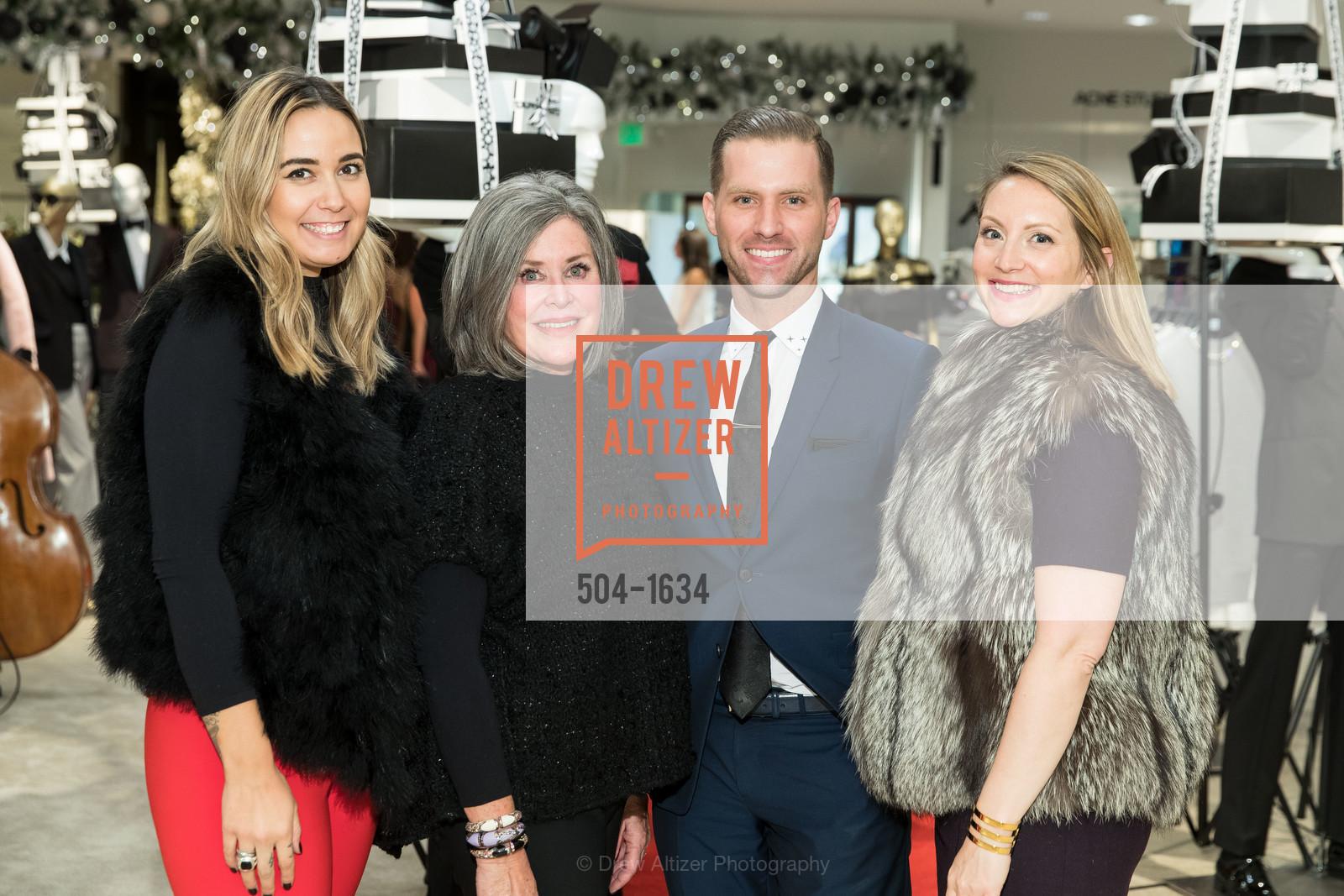 Susan Paganini, Corey Thomas, Lydia Seifert, Saks Fifth Avenue Private Shopping Night, Saks Fifth Avenue. 384 Post St, December 7th, 2016