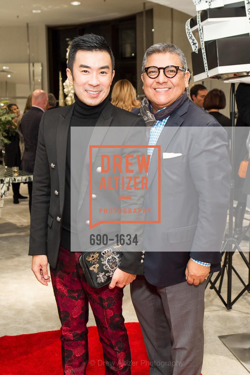 Kai Tan, Riccardo Benavides, Saks Fifth Avenue Private Shopping Night, Saks Fifth Avenue. 384 Post St, December 7th, 2016