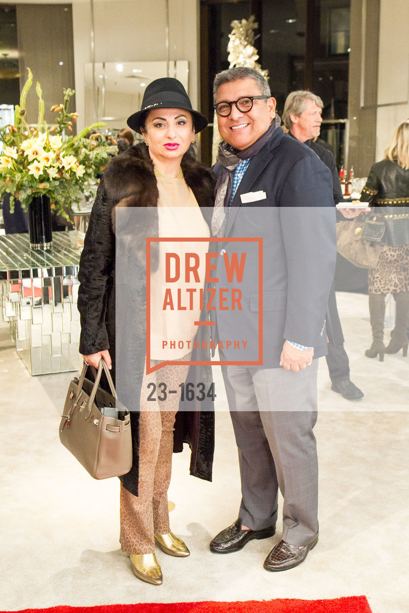 Esmeralda Azan, Riccardo Benavides, Saks Fifth Avenue Private Shopping Night, Saks Fifth Avenue. 384 Post St, December 7th, 2016