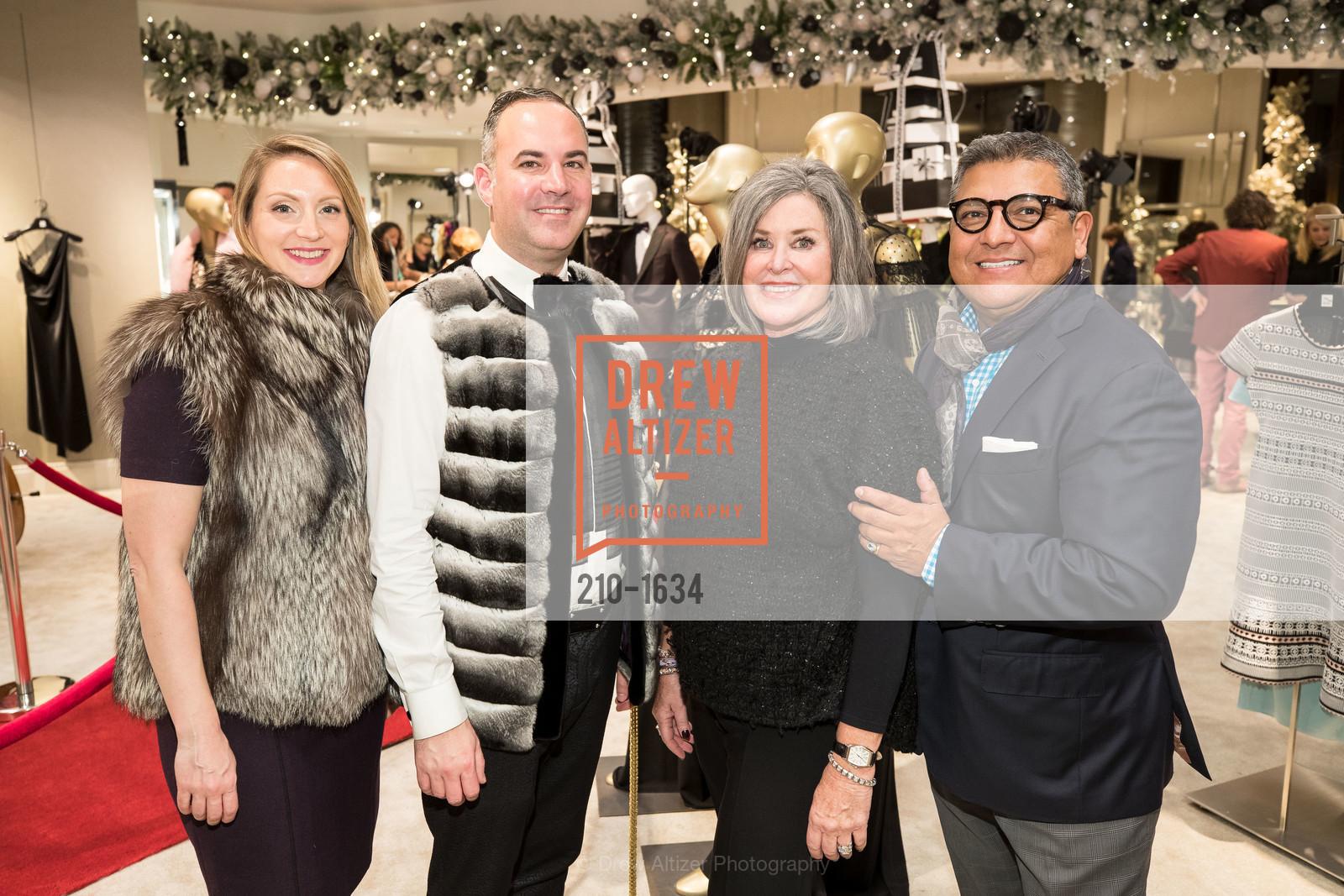 Lydia Seifert, Robert Arnold-Kraft, Susan Paganini, Riccardo Benavides, Saks Fifth Avenue Private Shopping Night, Saks Fifth Avenue. 384 Post St, December 7th, 2016