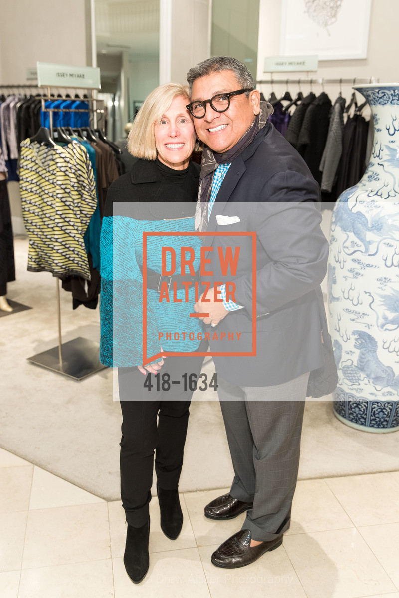 Kathy Huber, Riccardo Benavides, Saks Fifth Avenue Private Shopping Night, Saks Fifth Avenue. 384 Post St, December 7th, 2016