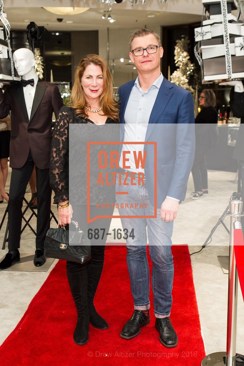 Patricia Ferrin Loucks, Claus Plicher, Saks Fifth Avenue Private Shopping Night, Saks Fifth Avenue. 384 Post St, December 7th, 2016
