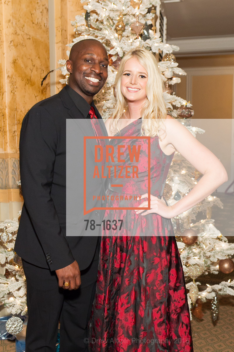 Kolapo Odujinrin, Laura Moir, Spinsters Holiday event, Metropolitan Club. 640 Sutter St, San Francisco, CA 94102, December 10th, 2016