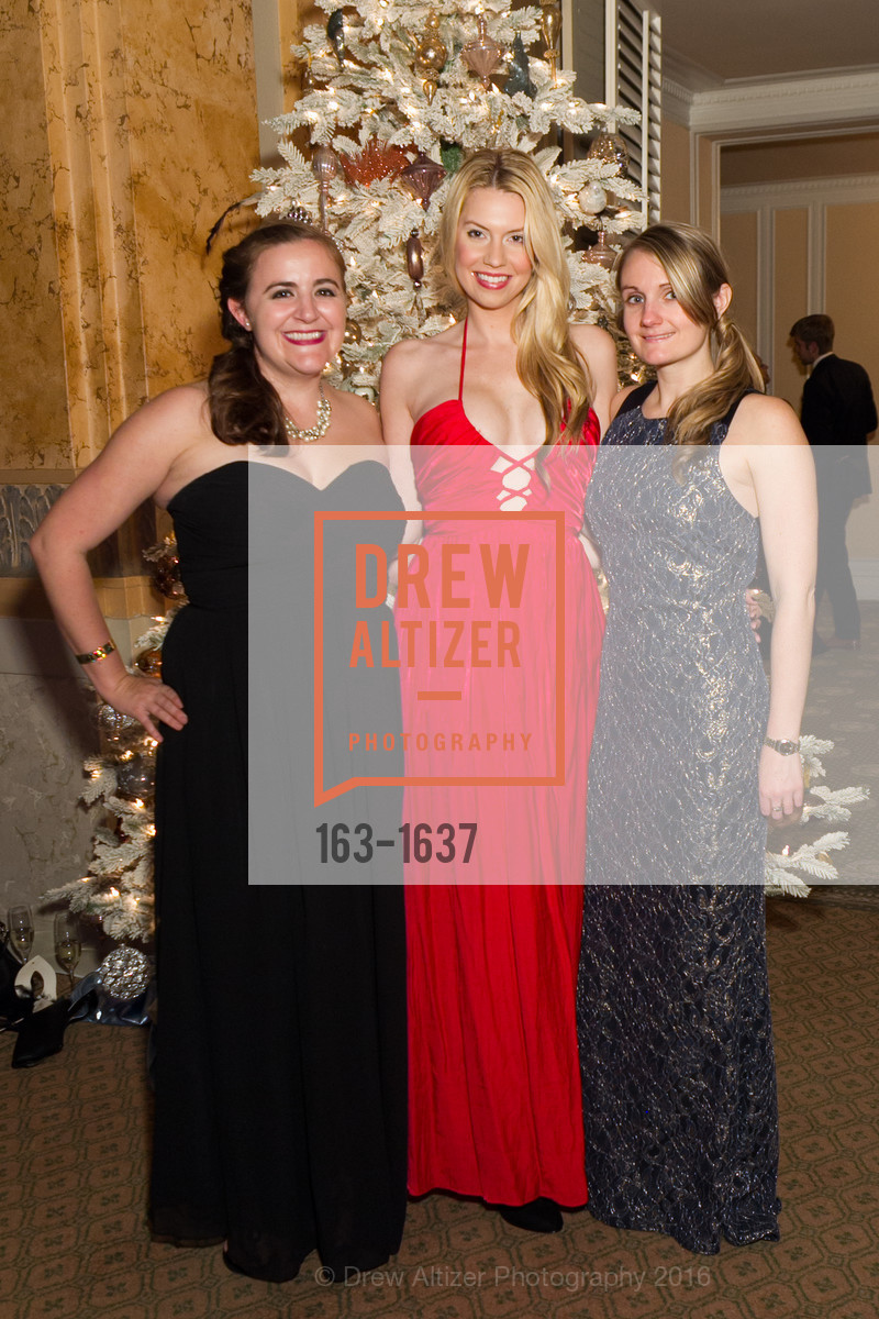Evanne Ushman, Kelly Pait, Christine McGrory, Spinsters Holiday event, Metropolitan Club. 640 Sutter St, San Francisco, CA 94102, December 10th, 2016