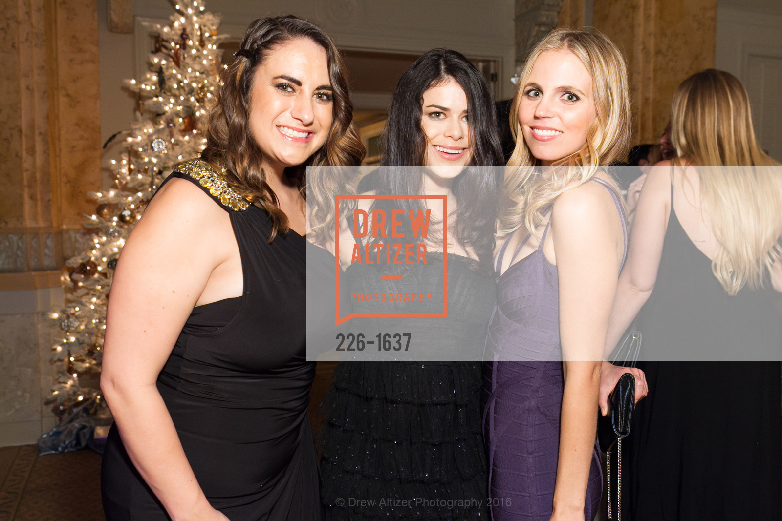 Kathleen Roberts, Natalie Himes, Taylor Magnuson, Spinsters Holiday event, Metropolitan Club. 640 Sutter St, San Francisco, CA 94102, December 10th, 2016