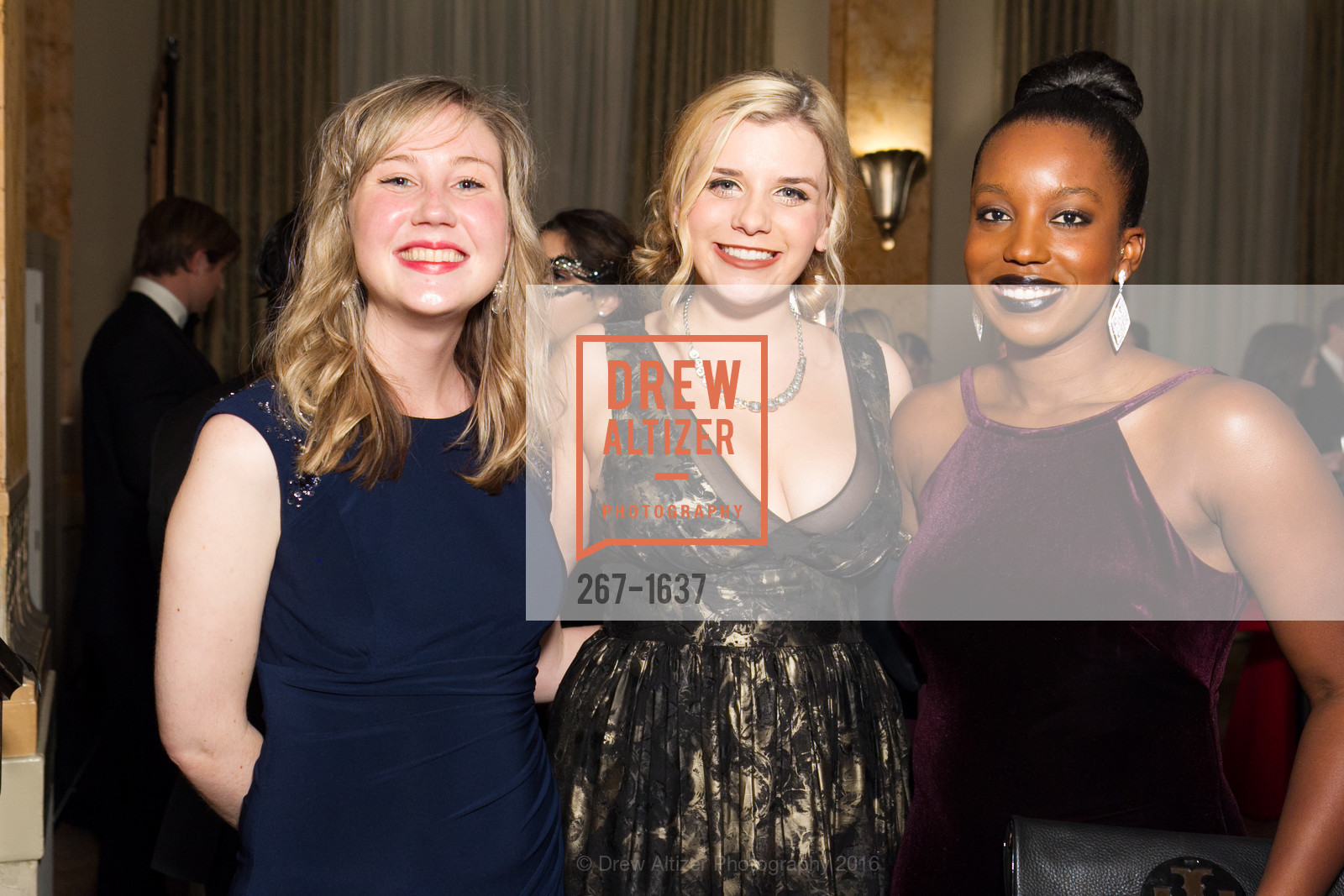 Allison Weeks, Chanel Griffith, Blair Green, Spinsters Holiday event, Metropolitan Club. 640 Sutter St, San Francisco, CA 94102, December 10th, 2016