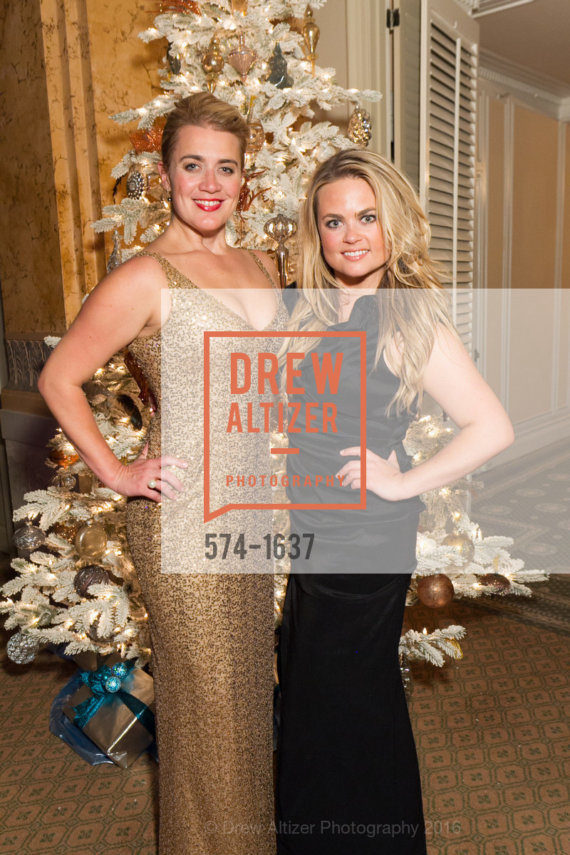 Ashley Hayes, Sydney Hayes, Spinsters Holiday event, Metropolitan Club. 640 Sutter St, San Francisco, CA 94102, December 10th, 2016