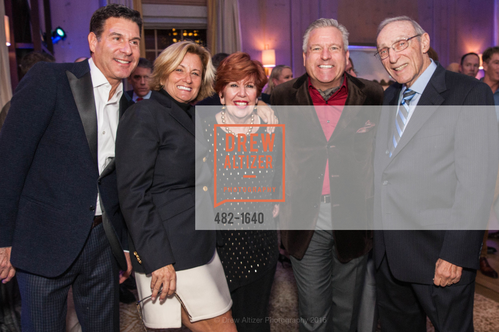 Glenn Risso, Gina Champion, Elaine Schwartz, Burt Schwartz, Gregg Lynn and Glenn Risso's Engagement Party, Farimont Hotel, Penthouse. San Francisco, California, December 7th, 2016
