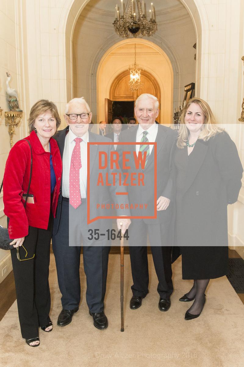 Patricia Hayes, John Moylan, Dermot Philpott, Teresa Philpott, Ann and Gordon Getty Host the San Francisco Mayor's Office of Protocol Christmas Party, Private Residence. 2525 Van Ness St, December 8th, 2016